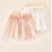 Fairy Dust Tulle Tiered Dress Up Tutu with Flower Applique