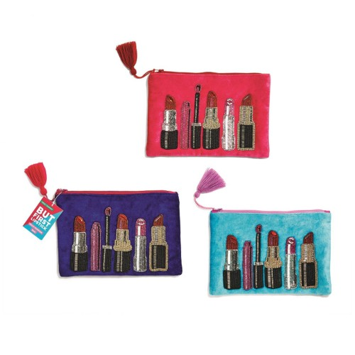 Embroidered Lipstick Pouch