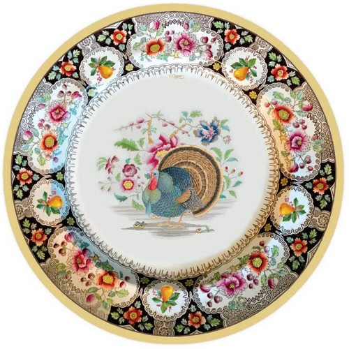 Thanksgiving Setting Dinner Plates